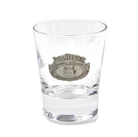 Jack Daniels Old No.7 Oval Badge Shot Glass - Round