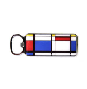 Modern Art Cubist Bottle Opener - After Mondrian Thumbnail 1