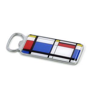 Modern Art Cubist Bottle Opener - After Mondrian Thumbnail 2