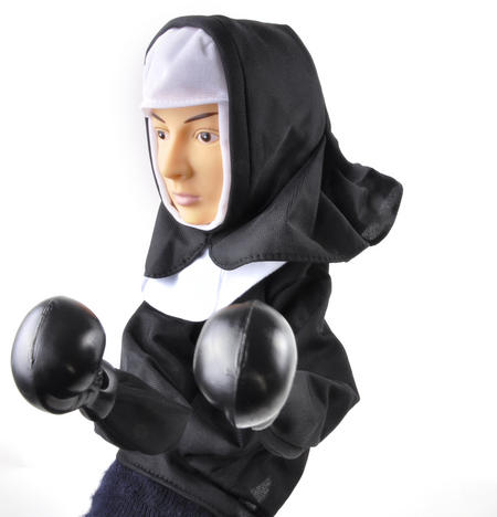Punching Nun - Boxing Hand Puppet