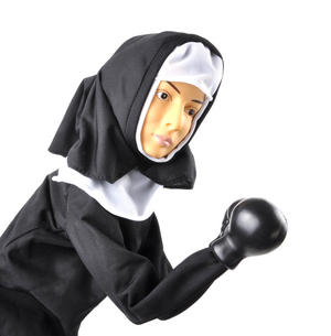 Punching Nun - Boxing Hand Puppet Thumbnail 6