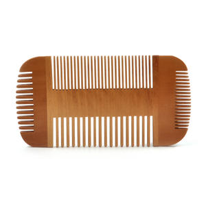 Double Sided Pear Wood Comb Moustache and Beard Grooming Tool