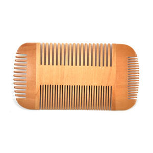 Double Sided Pear Wood Comb Moustache and Beard Grooming Tool Thumbnail 3