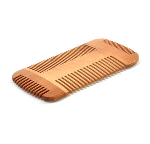 Double Sided Pear Wood Comb Moustache and Beard Grooming Tool Thumbnail 4