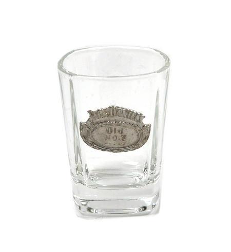 Jack Daniels Old No.7 Oval Badge Shot Glass - Square