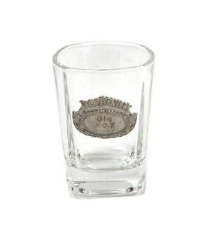 Jack Daniels Old No.7 Oval Badge Shot Glass - Square