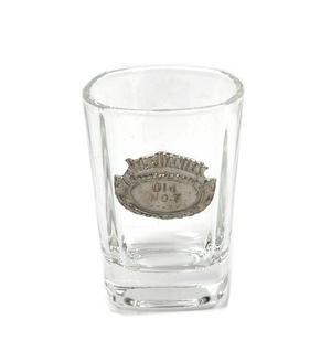 Jack Daniels Old No.7 Oval Badge Shot Glass - Square Thumbnail 1