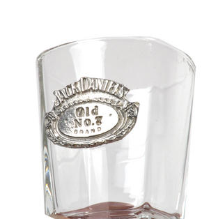 Jack Daniels Old No.7 Oval Badge Shot Glass - Square Thumbnail 2