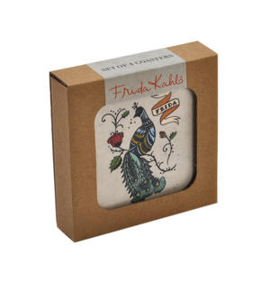 Frida Kahlo Peacock - Box Set of 4 Coasters Thumbnail 2