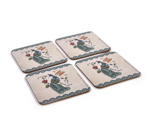 Frida Kahlo Peacock - Box Set of 4 Coasters Thumbnail 3