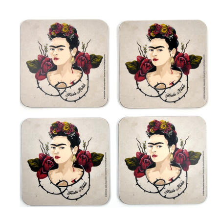 Frida Kahlo Portrait - Box Set of 4 Coasters