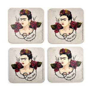Frida Kahlo Portrait - Box Set of 4 Coasters Thumbnail 1