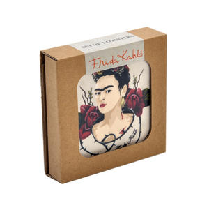 Frida Kahlo Portrait - Box Set of 4 Coasters Thumbnail 2