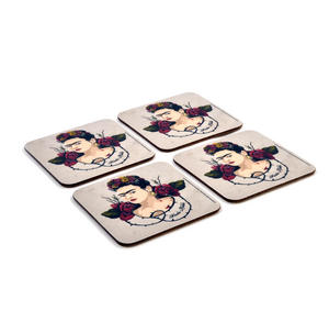 Frida Kahlo Portrait - Box Set of 4 Coasters Thumbnail 3