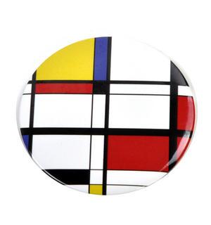 Modern Art Cubist Compact Pocket Handbag Mirror - After Mondrian
