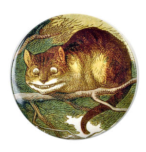 Cheshire Cat Compact Pocket Handbag Mirror - Alice in Wonderland Thumbnail 1