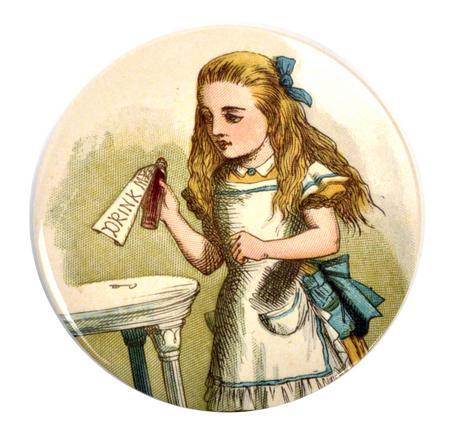 Drink Me Alice Compact Pocket Handbag Mirror - Alice in Wonderland