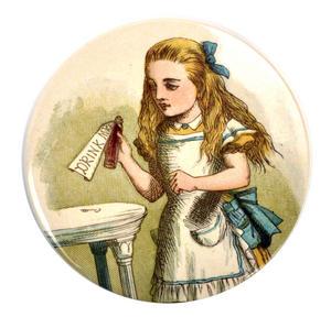 Drink Me Alice Compact Pocket Handbag Mirror - Alice in Wonderland Thumbnail 1