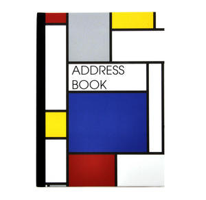 Modern Art Cubist A6 Hardback Address Book - After Mondrian Thumbnail 1