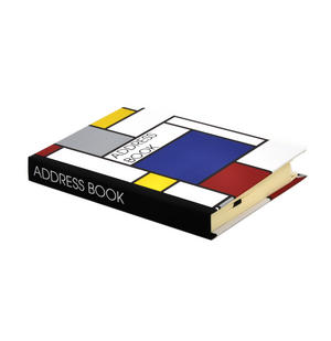 Modern Art Cubist A6 Hardback Address Book - After Mondrian Thumbnail 4