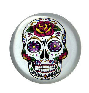 Frida Kahlo Sugar Skull Paperweight in Presentation Box