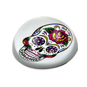 Frida Kahlo Sugar Skull Paperweight in Presentation Box Thumbnail 2