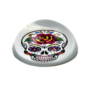 Frida Kahlo Sugar Skull Paperweight in Presentation Box Thumbnail 4