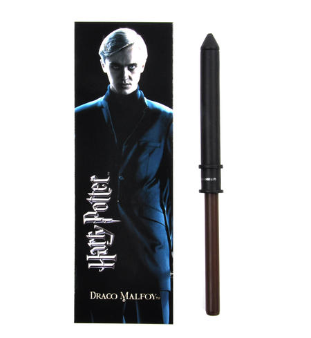 Draco Malfoy Pen Wand & Bookmark - Noble Collection Harry Potter Replica