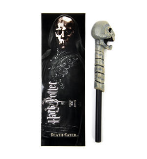 Death Eater Pen Wand & Bookmark - Noble Collection Harry Potter Replica Thumbnail 1