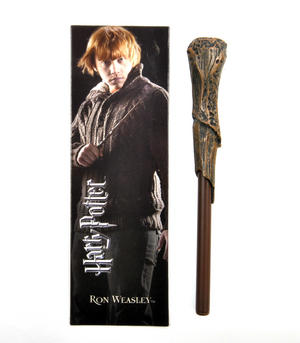 Ron Weasley Pen Wand & Bookmark - Noble Collection Harry Potter Replica