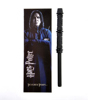 Severus Snape Pen Wand & Bookmark - Noble Collection Harry Potter Replica Thumbnail 1