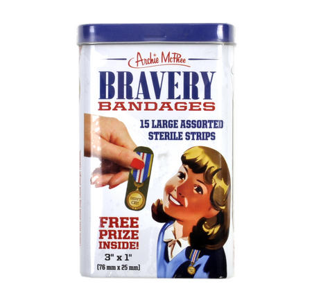 Bravery Bandages - First Aid In A Tin - Plasters / Band Aids