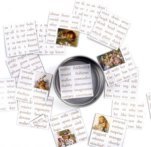 Adventures in Wonderland Fridge Magnet Set - Alice in Wonderland Fridge Poetry Thumbnail 1