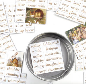 Adventures in Wonderland Fridge Magnet Set - Alice in Wonderland Fridge Poetry Thumbnail 2