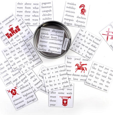Kings and Queens Fridge Magnet Set - Maketh Thine Own Fridge Poetry