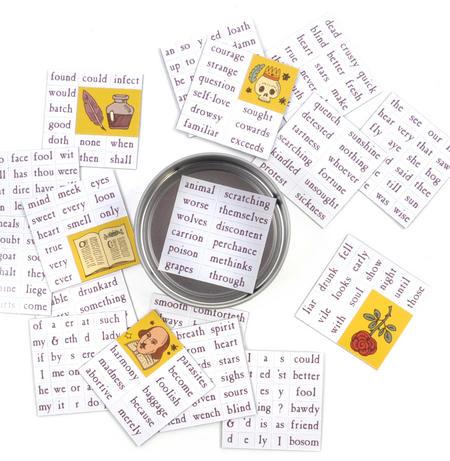 Ode to Shakespeare Fridge Magnet Set - Bardic Fridge Poetry
