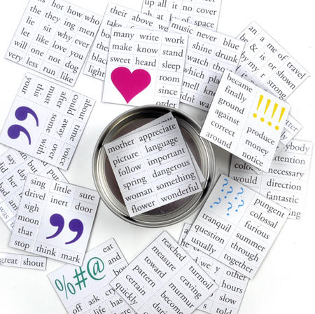 Magnetic Message Fridge Magnet Poetry Set - Memo Fridge Poetry