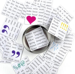 Magnetic Message Fridge Magnet Poetry Set - Memo Fridge Poetry Thumbnail 1
