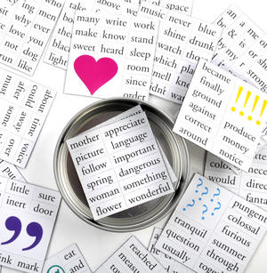 Magnetic Message Fridge Magnet Poetry Set - Memo Fridge Poetry Thumbnail 2