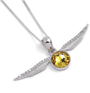 Boxed Swarovski Snitch - Sterling Silver Harry Potter Crystal Necklace