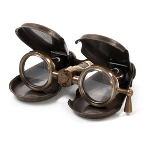 Opera Glasses - Steampunk Binoculars in Case