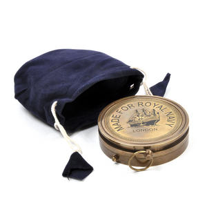 Royal Navy Kelvin Replica Mariner's Compass Thumbnail 7