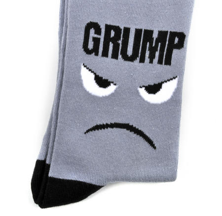 Grump Socks - Soft Combed Cotton Socks - Men's Crew