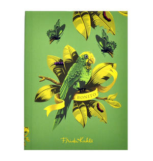 Frida Kahlo - Bonito the Parrot A6 Hardback Notebook