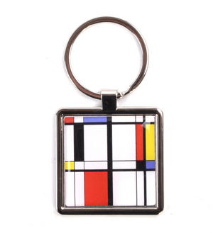Modern Art Cubist Keyring - After Mondrian Thumbnail 1