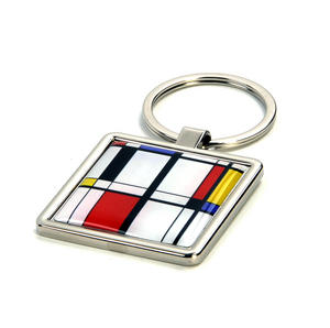 Modern Art Cubist Keyring - After Mondrian Thumbnail 3