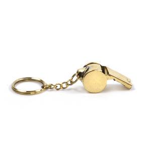 Brass Whistle Key Ring Thumbnail 1