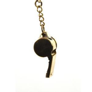 Brass Whistle Key Ring Thumbnail 3
