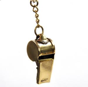 Brass Whistle Key Ring Thumbnail 4