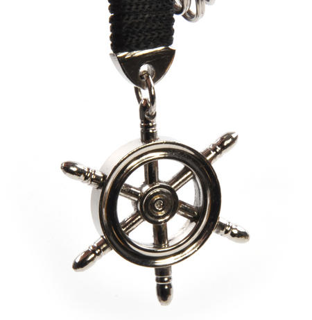 Ship's Wheel - Key Fob with Three Keyrings